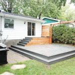 Patio de cours arrière - Fabrication de patio en composite sur mesure à Candiac - Patio et clôture Caravelle.